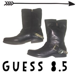 Guess chain ankle boots